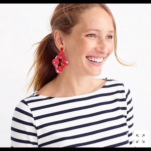 JCREW NWOT large red earrings- FESTIVE AND FUN